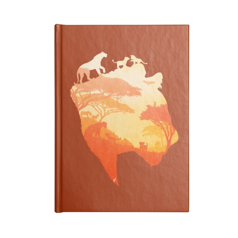 The Heart of a Lioness Accessories Blank Journal Notebook by DVerissimo's
