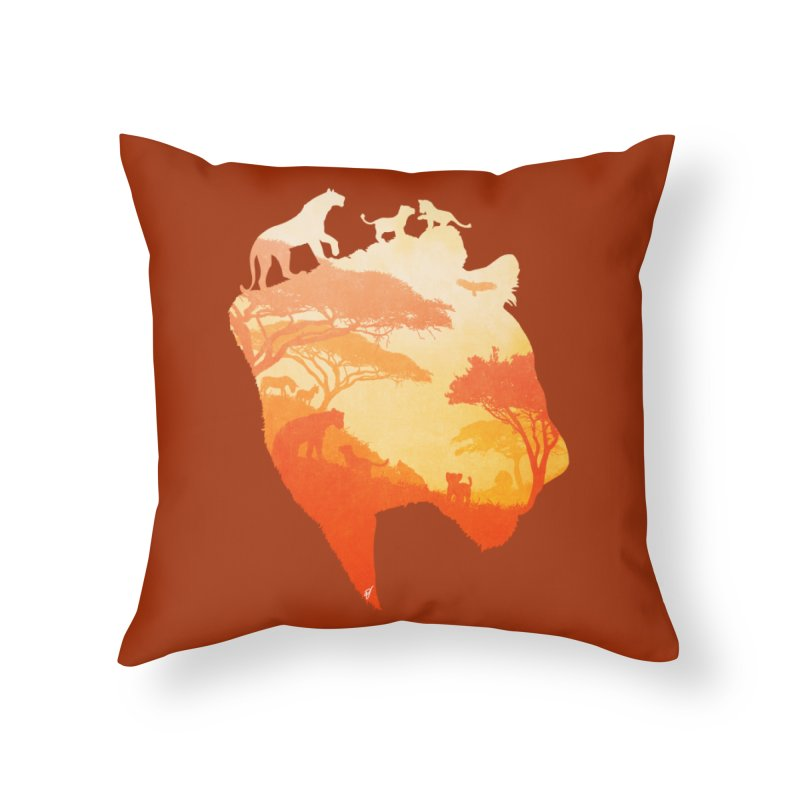 The Heart of a Lioness Home Throw Pillow by DVerissimo's