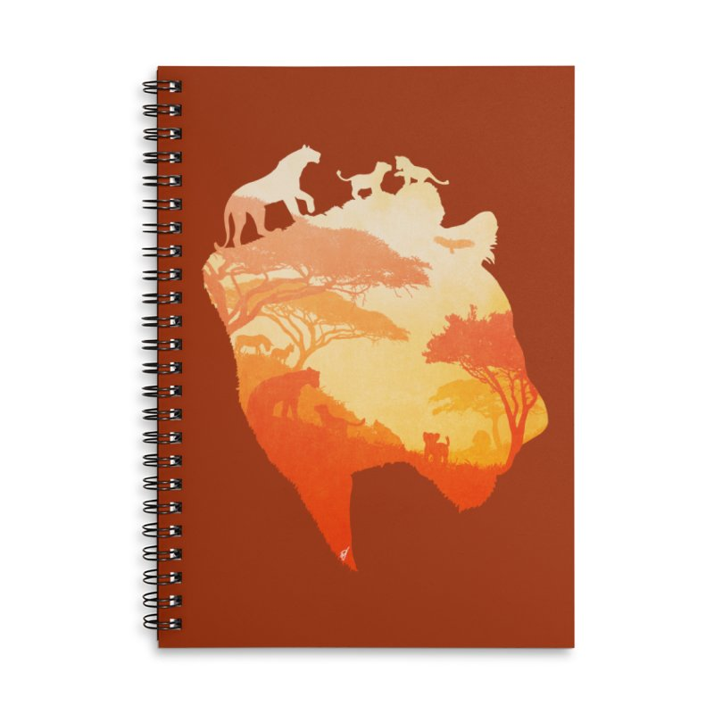 The Heart of a Lioness Accessories Lined Spiral Notebook by DVerissimo's
