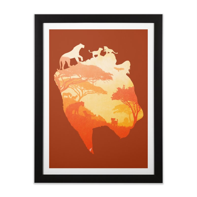 The Heart of a Lioness Home Framed Fine Art Print by DVerissimo's