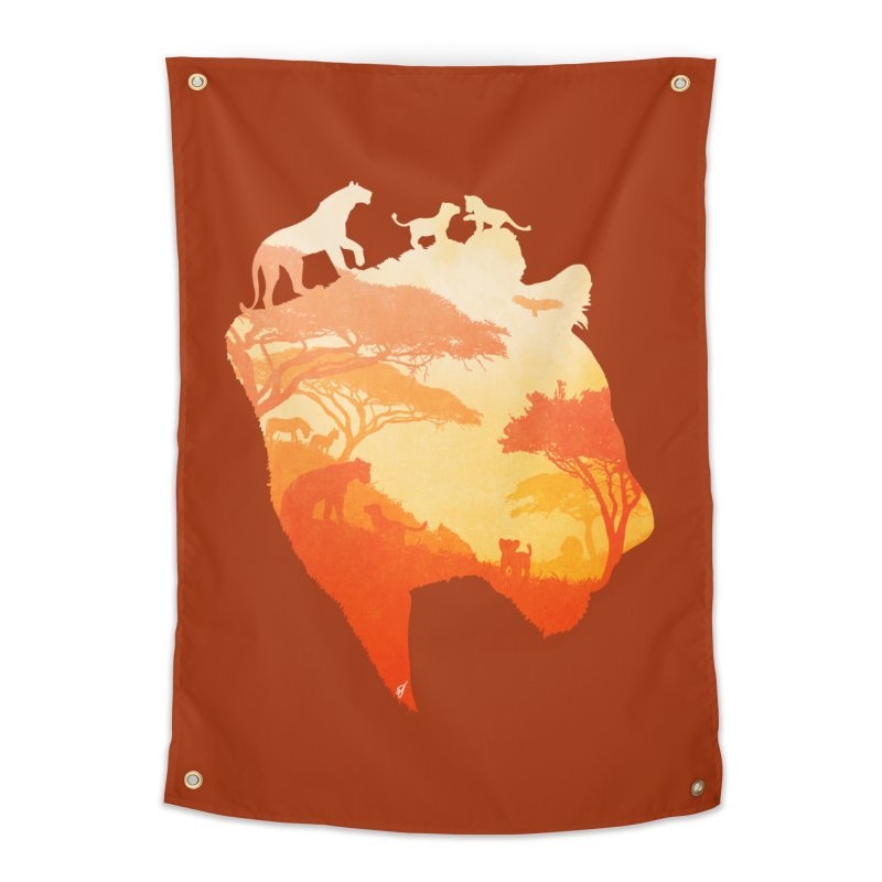 The Heart of a Lioness Home Tapestry by DVerissimo's