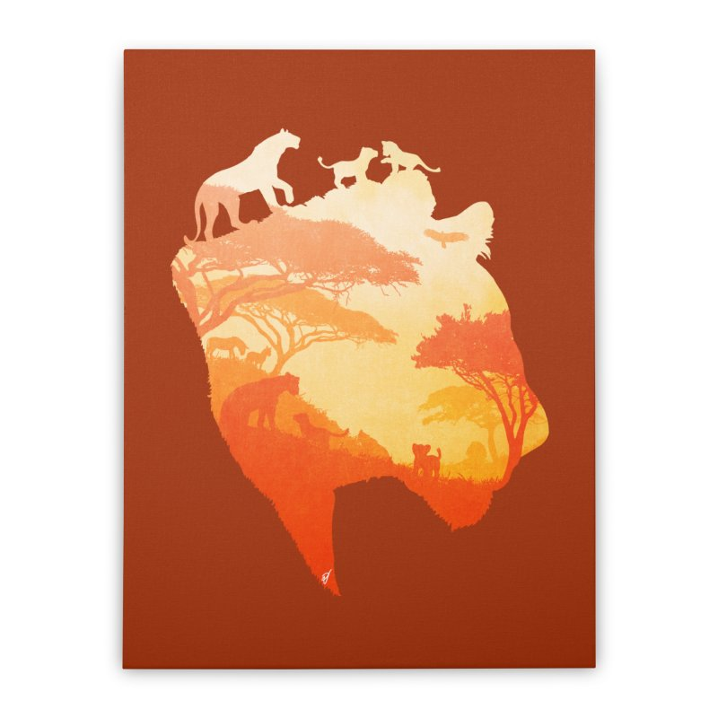 The Heart of a Lioness Home Stretched Canvas by DVerissimo's