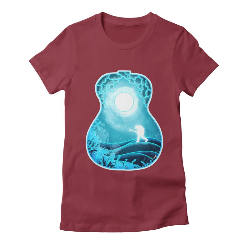 Dream Chords Women's Fitted T-Shirt by DVerissimo's