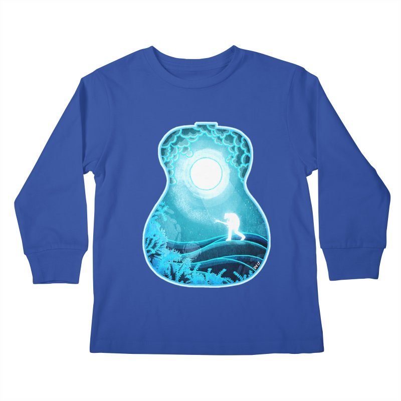 Dream Chords Kids Longsleeve T-Shirt by DVerissimo's