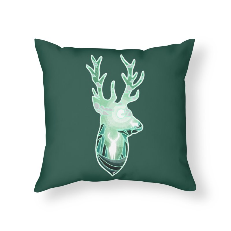 Winter Spirit Home Throw Pillow by DVerissimo's