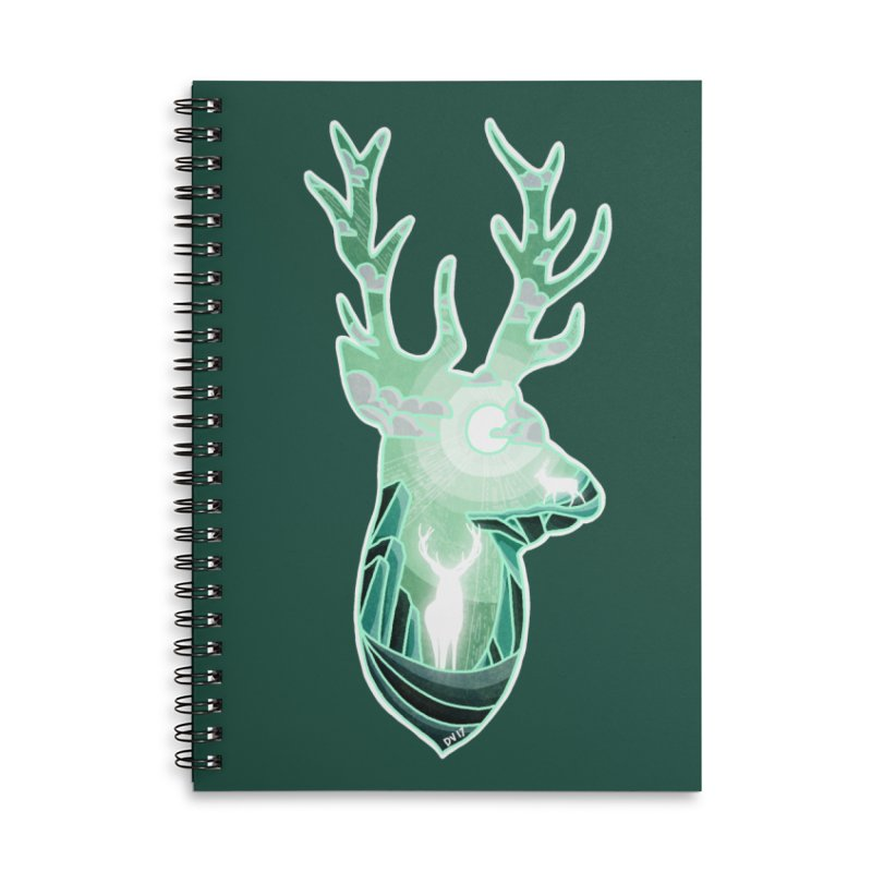 Winter Spirit Accessories Lined Spiral Notebook by DVerissimo's