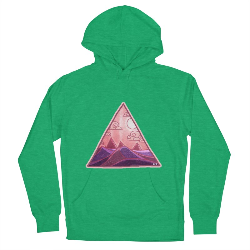 Pyramid Land Women's French Terry Pullover Hoody by DVerissimo's