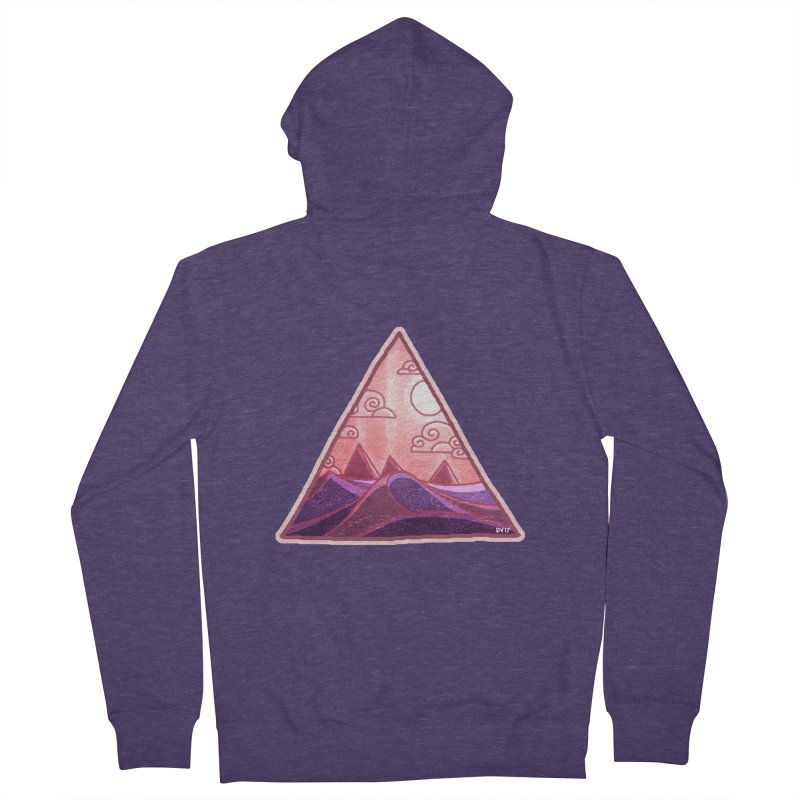 Pyramid Land Men's French Terry Zip-Up Hoody by DVerissimo's
