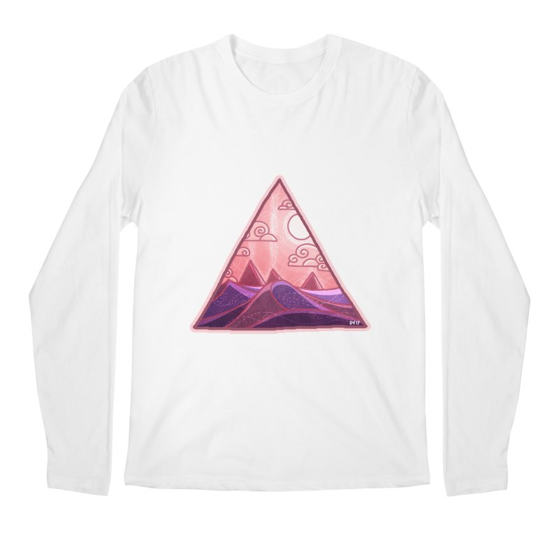 Pyramid Land Men's Longsleeve T-Shirt by DVerissimo's
