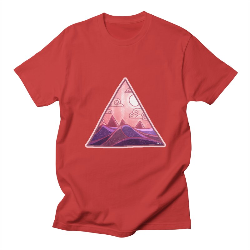 Pyramid Land Men's Regular T-Shirt by DVerissimo's