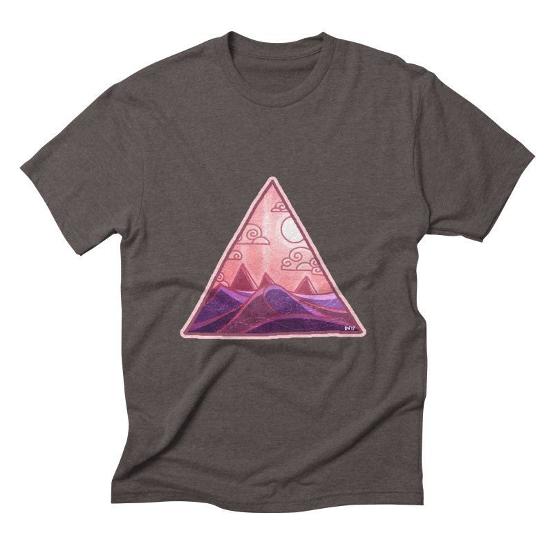 Pyramid Land Men's Triblend T-Shirt by DVerissimo's