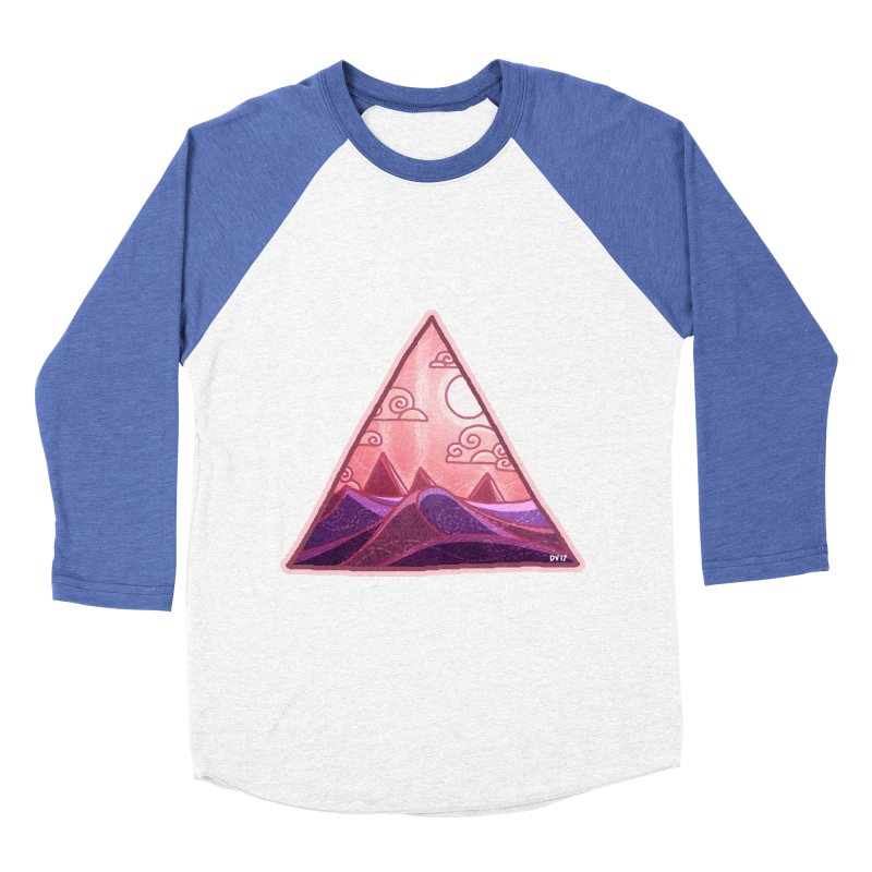 Pyramid Land Women's Baseball Triblend Longsleeve T-Shirt by DVerissimo's