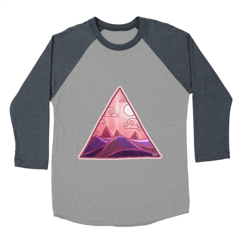 Pyramid Land Women's Baseball Triblend Longsleeve T-Shirt by DVerissimo's