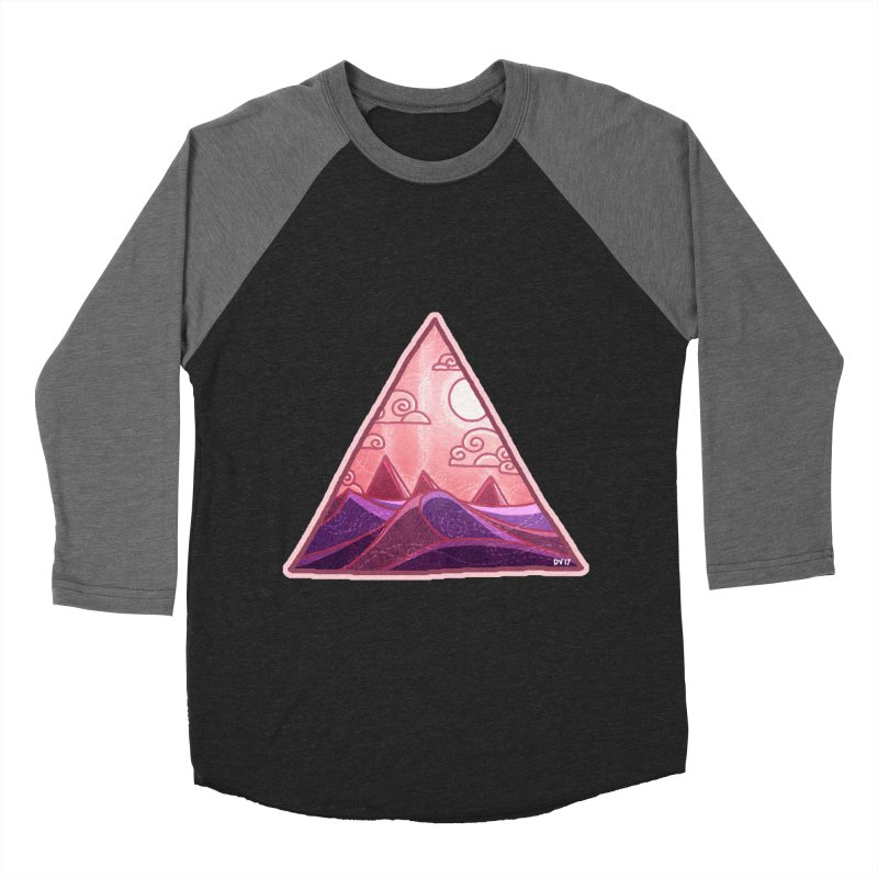 Pyramid Land Men's Baseball Triblend Longsleeve T-Shirt by DVerissimo's