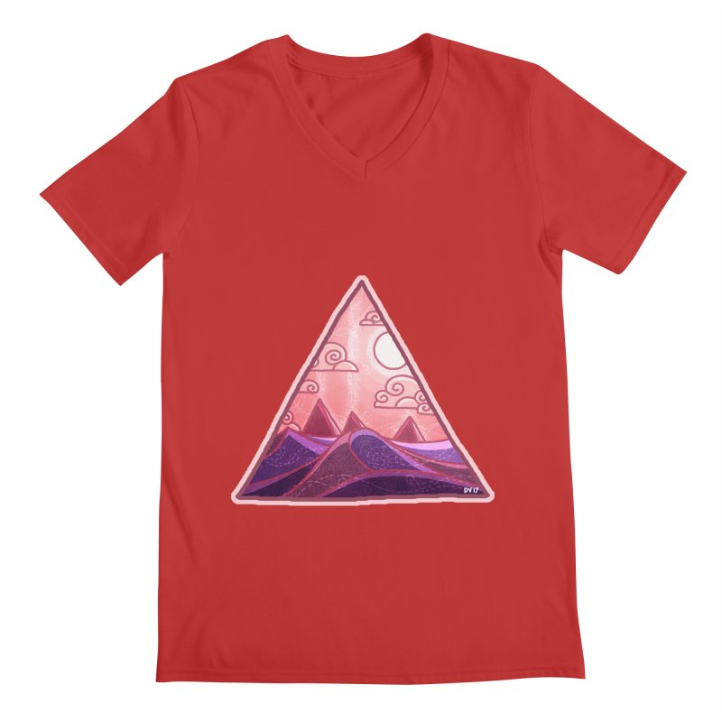 Pyramid Land Men's V-Neck by DVerissimo's