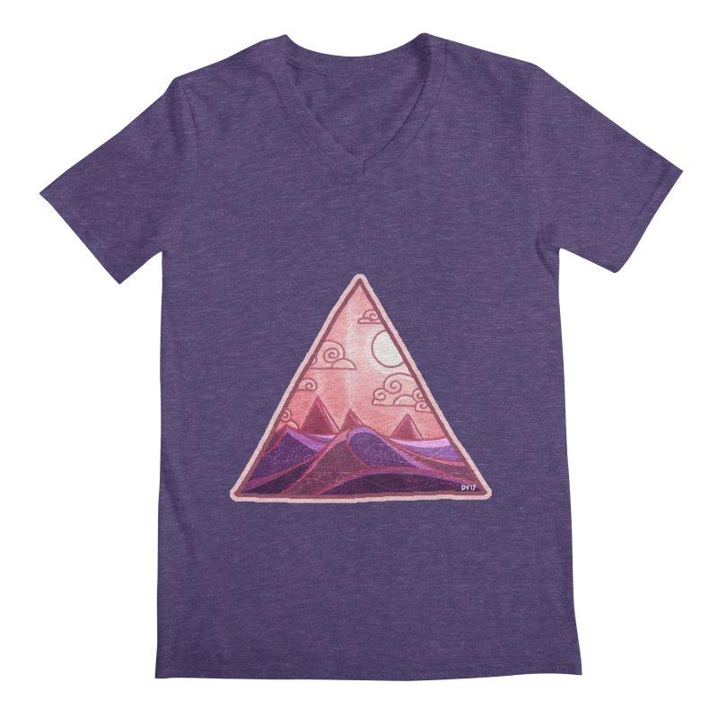 Pyramid Land Men's Regular V-Neck by DVerissimo's