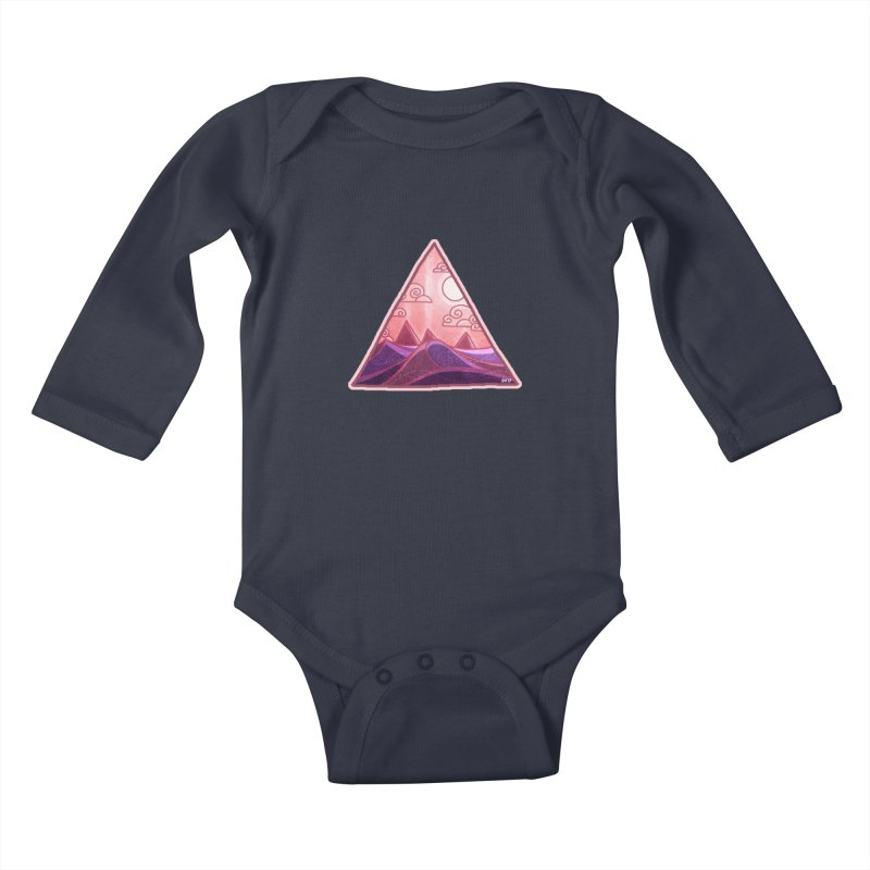 Pyramid Land Kids Baby Longsleeve Bodysuit by DVerissimo's