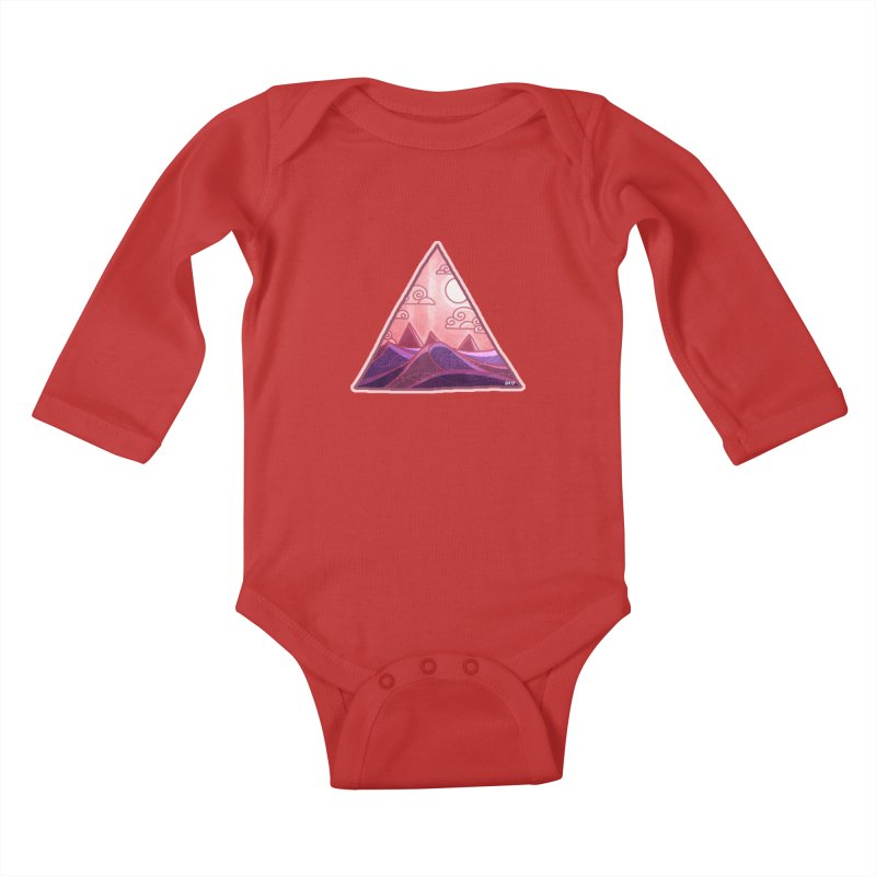 Pyramid Land Kids Baby Longsleeve Bodysuit by DVerissimo's