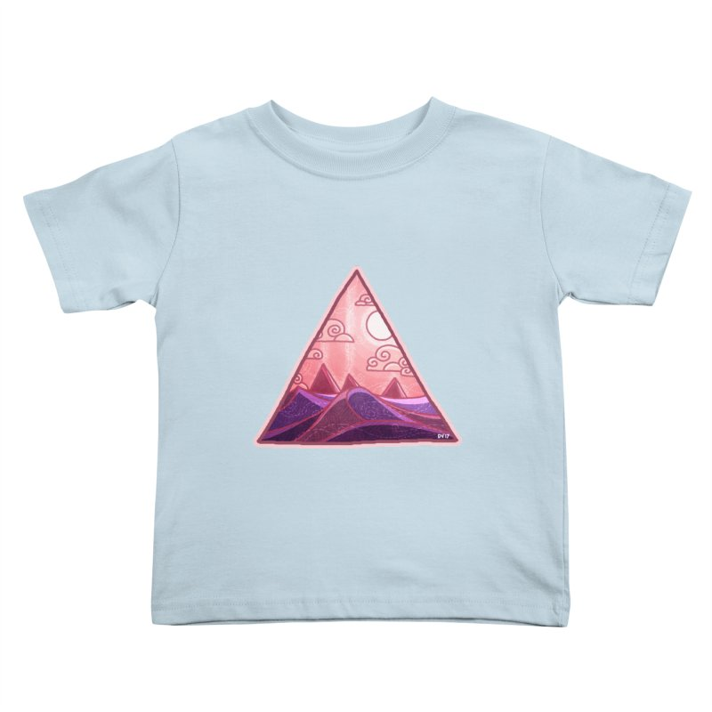 Pyramid Land Kids Toddler T-Shirt by DVerissimo's