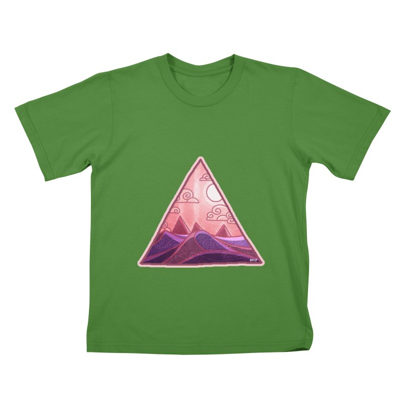 Pyramid Land Kids T-Shirt by DVerissimo's