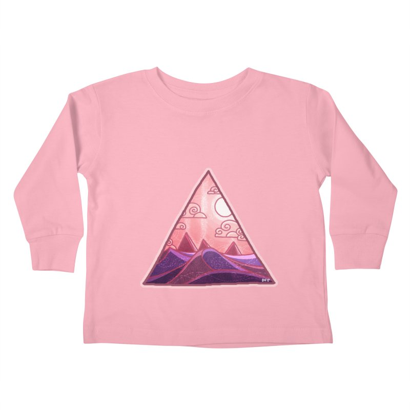 Pyramid Land Kids Toddler Longsleeve T-Shirt by DVerissimo's