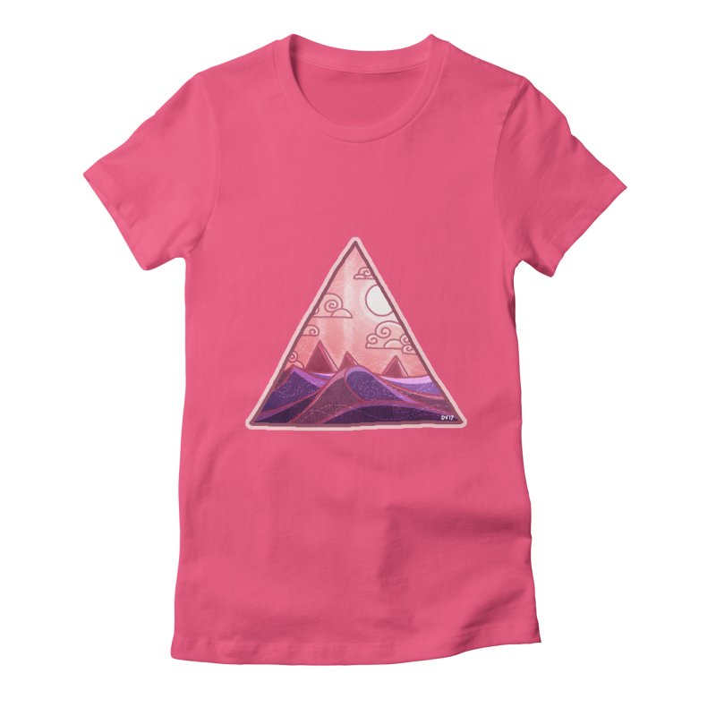 Pyramid Land Women's Fitted T-Shirt by DVerissimo's