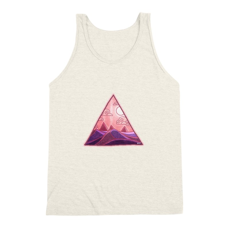 Pyramid Land Men's Triblend Tank by DVerissimo's