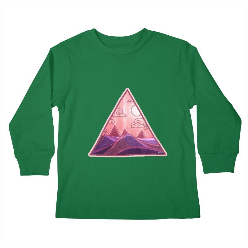 Pyramid Land Kids Longsleeve T-Shirt by DVerissimo's