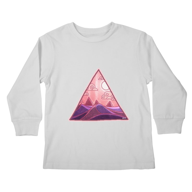 Pyramid Land Kids Longsleeve T-Shirt by DVerissimo's
