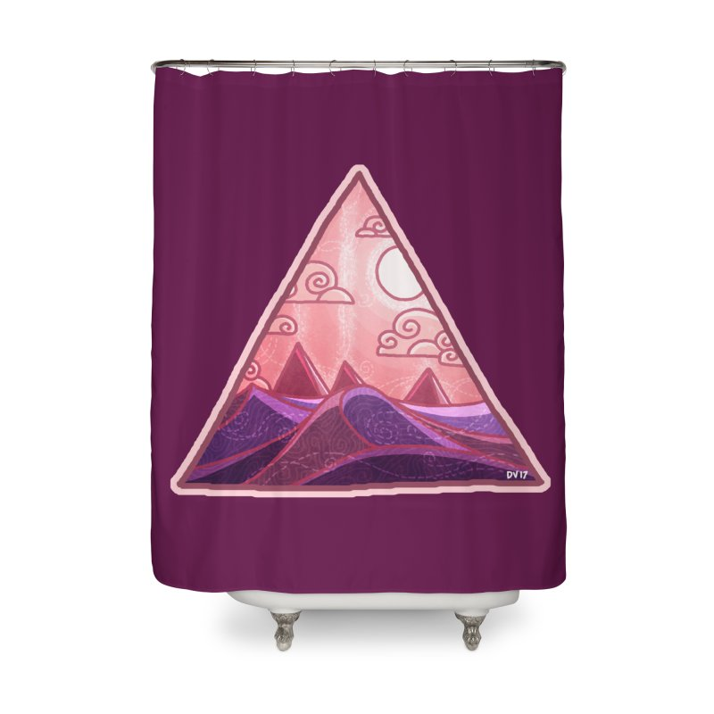 Pyramid Land Home Shower Curtain by DVerissimo's