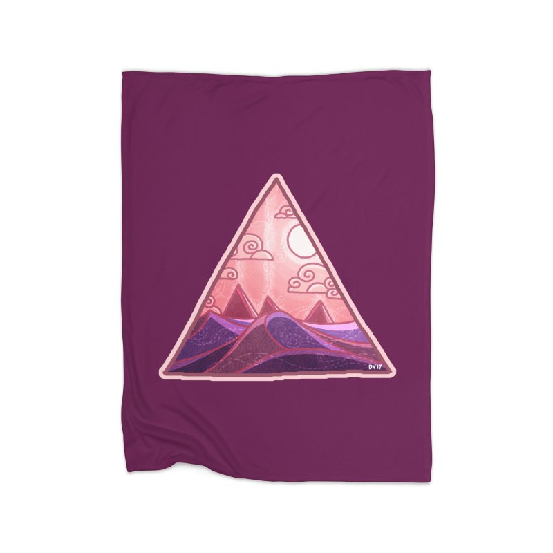 Pyramid Land Home Fleece Blanket Blanket by DVerissimo's