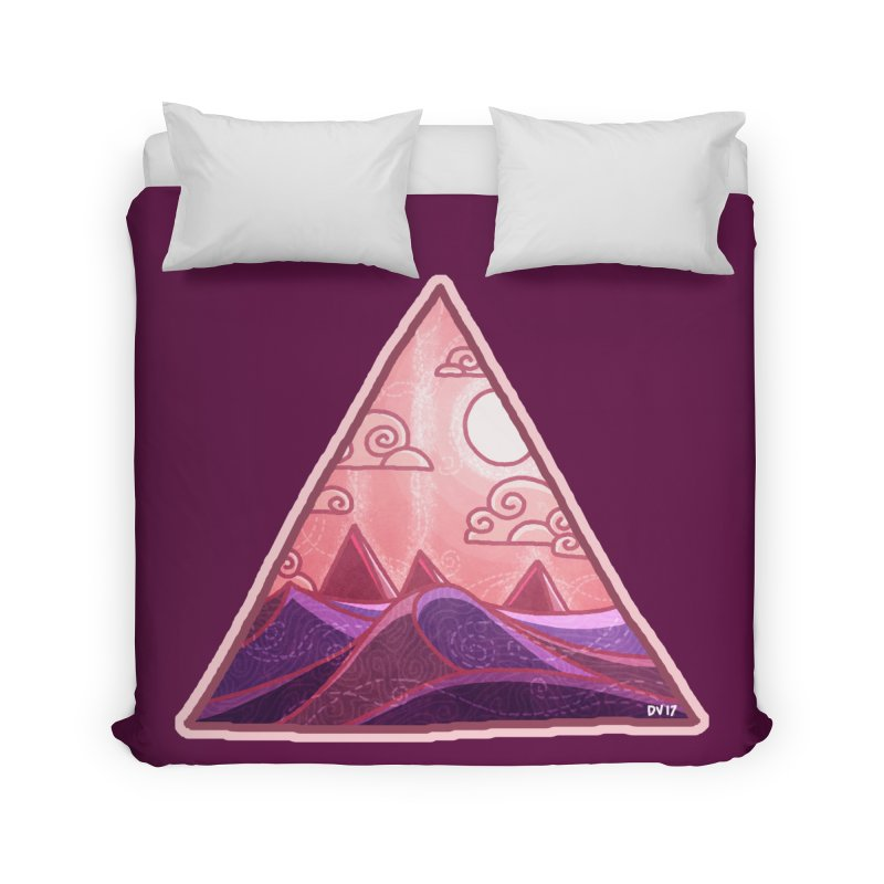 Pyramid Land Home Duvet by DVerissimo's