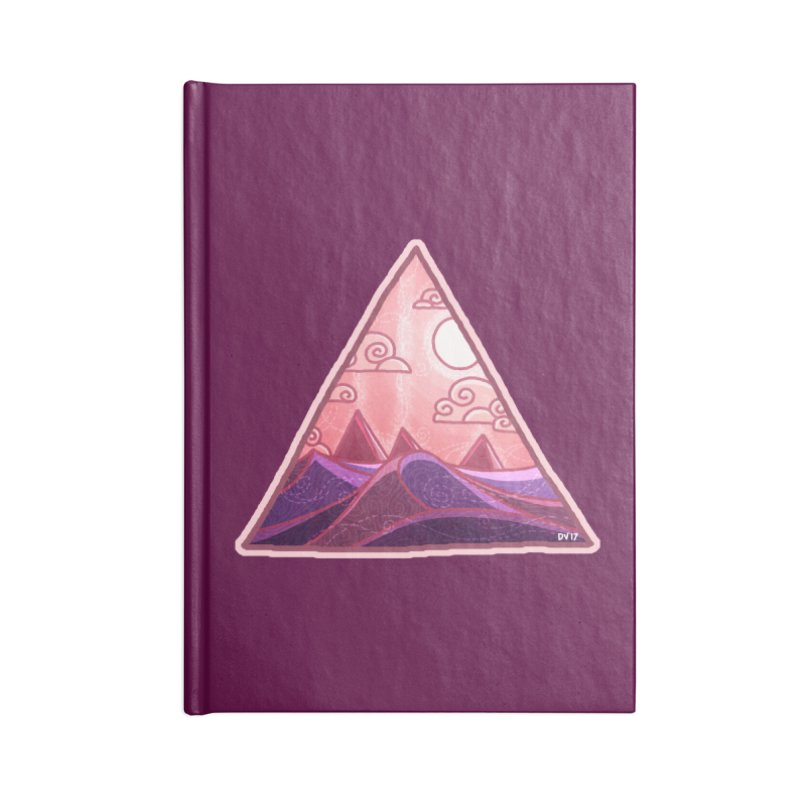Pyramid Land Accessories Blank Journal Notebook by DVerissimo's