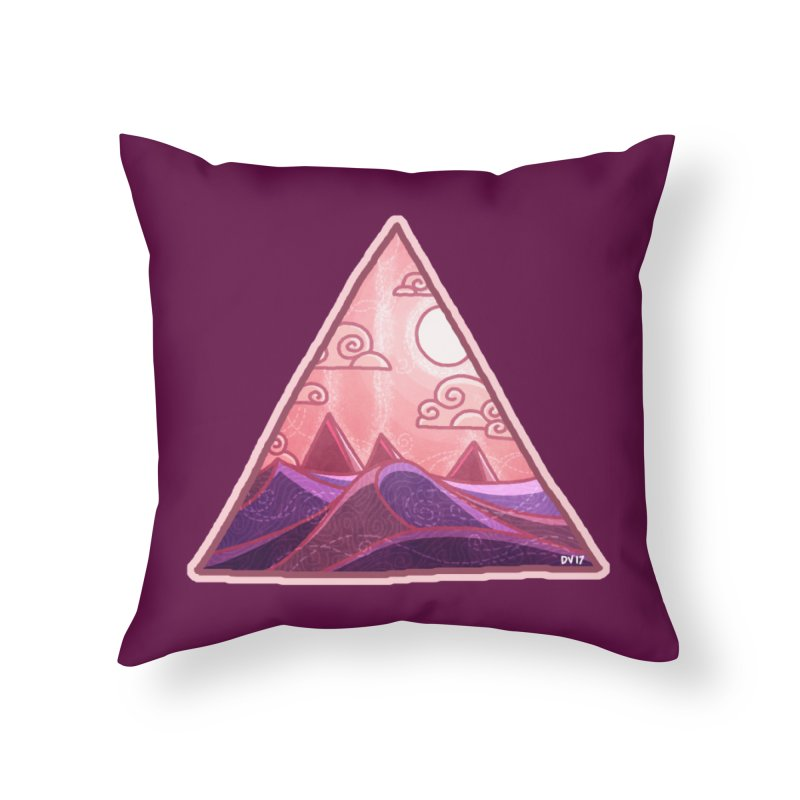 Pyramid Land Home Throw Pillow by DVerissimo's