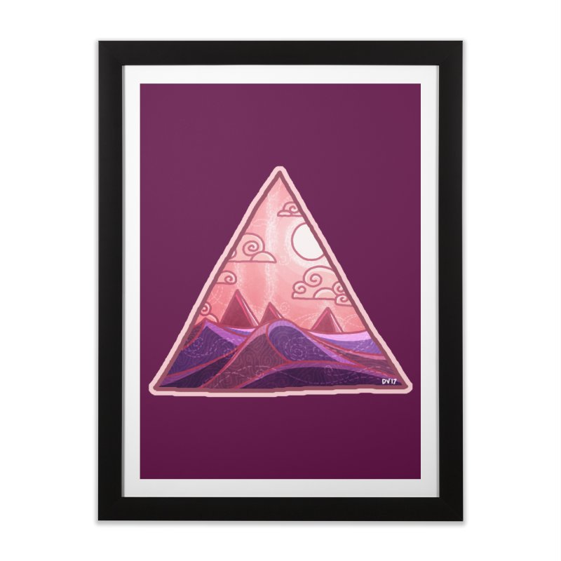 Pyramid Land Home Framed Fine Art Print by DVerissimo's