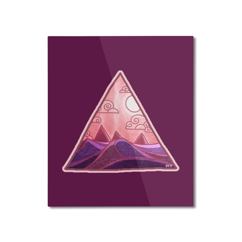 Pyramid Land Home Mounted Aluminum Print by DVerissimo's