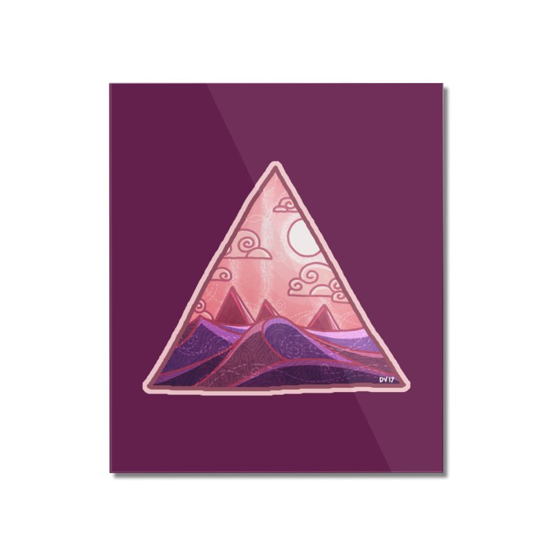 Pyramid Land Home Mounted Acrylic Print by DVerissimo's