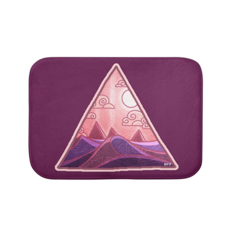 Pyramid Land Home Bath Mat by DVerissimo's