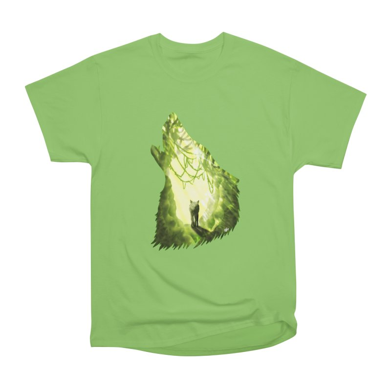 Wolf's Forest Women's Heavyweight Unisex T-Shirt by DVerissimo's