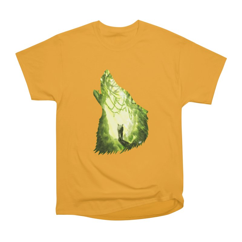 Wolf's Forest Men's Heavyweight T-Shirt by DVerissimo's