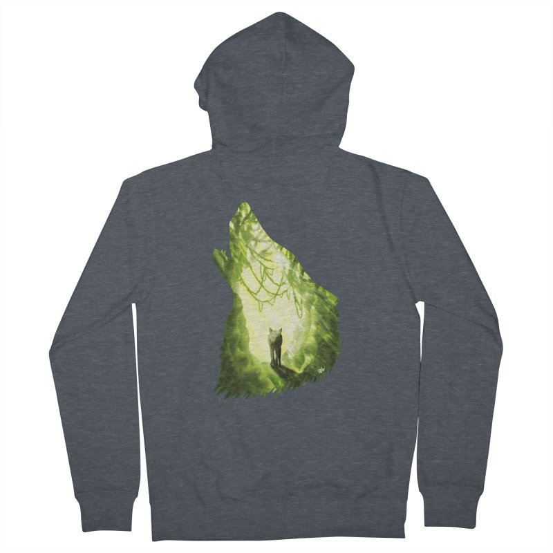 Wolf's Forest Women's Zip-Up Hoody by DVerissimo's