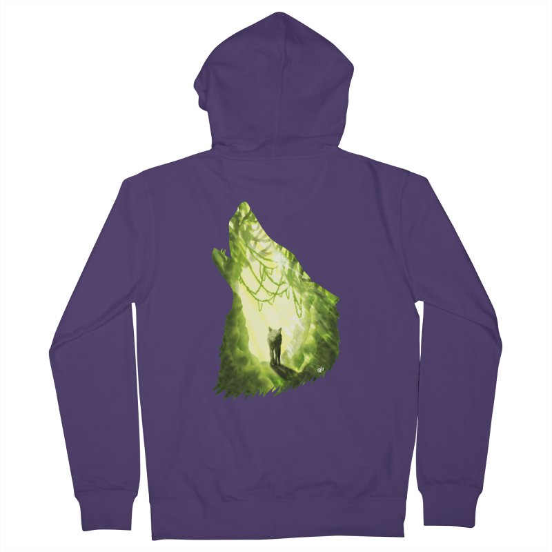 Wolf's Forest Women's French Terry Zip-Up Hoody by DVerissimo's
