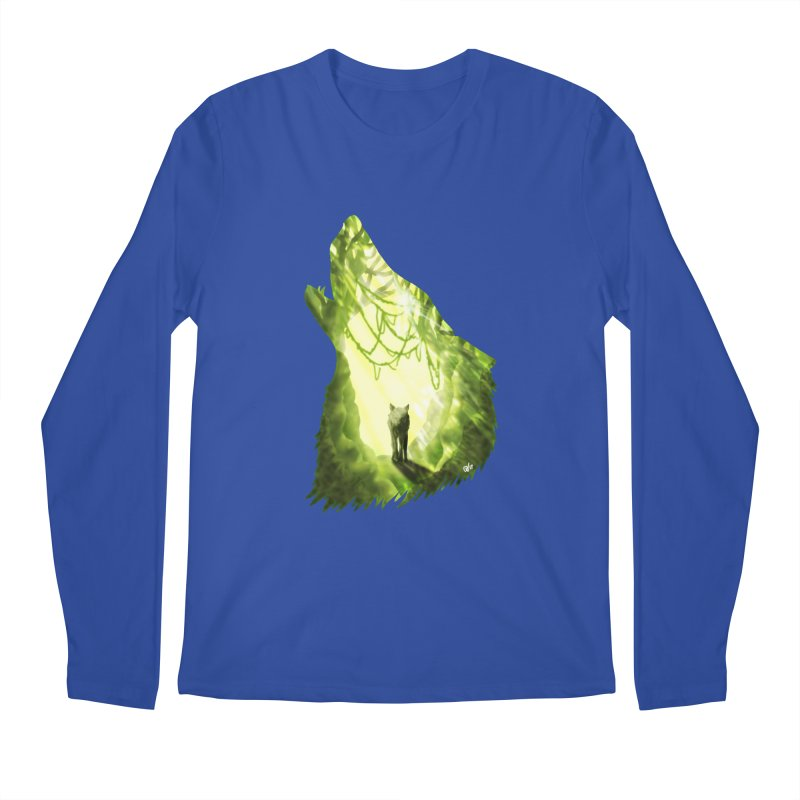 Wolf's Forest Men's Regular Longsleeve T-Shirt by DVerissimo's