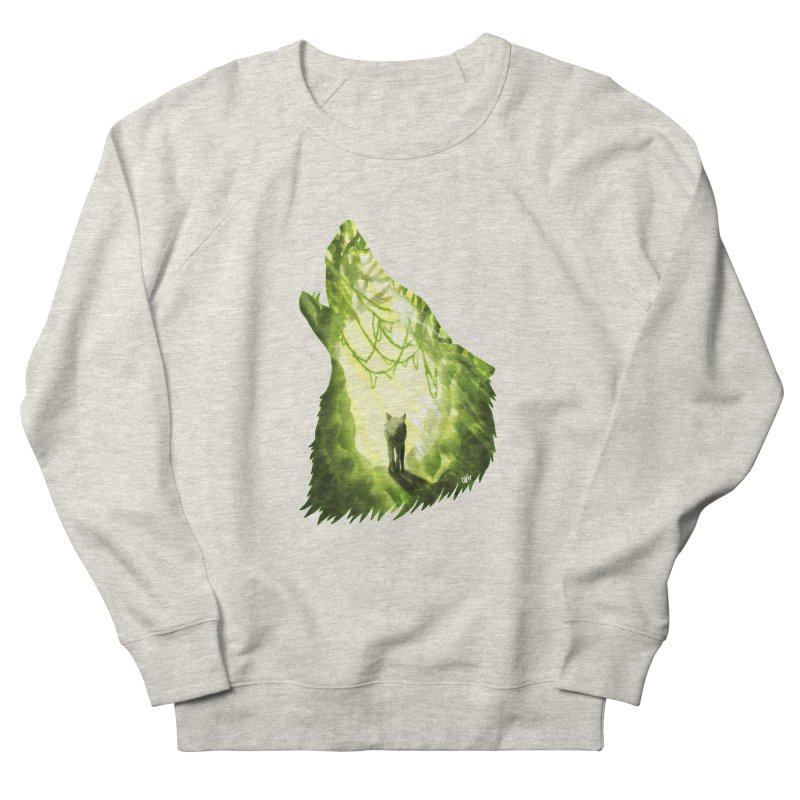 Wolf's Forest Men's French Terry Sweatshirt by DVerissimo's