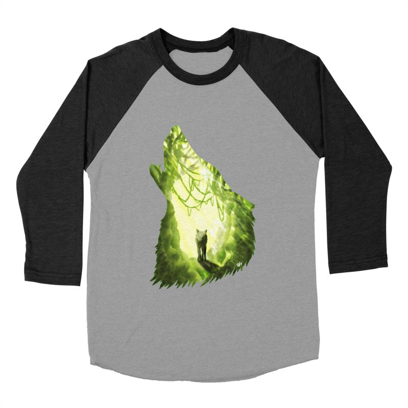 Wolf's Forest Women's Baseball Triblend Longsleeve T-Shirt by DVerissimo's