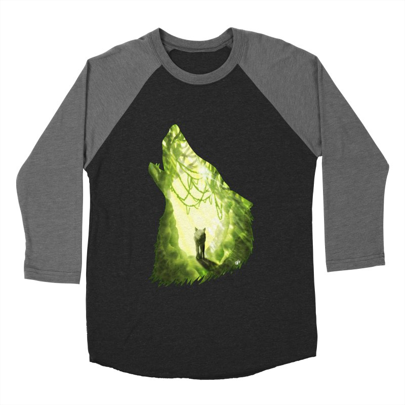 Wolf's Forest Men's Baseball Triblend Longsleeve T-Shirt by DVerissimo's