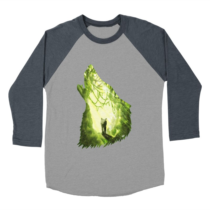 Wolf's Forest Men's Baseball Triblend T-Shirt by DVerissimo's