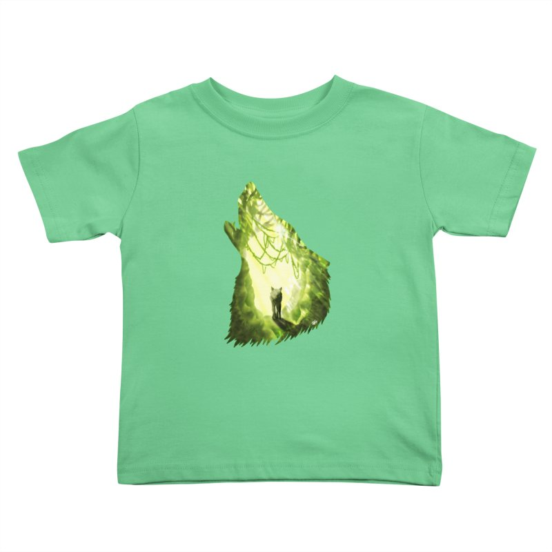 Wolf's Forest Kids Toddler T-Shirt by DVerissimo's