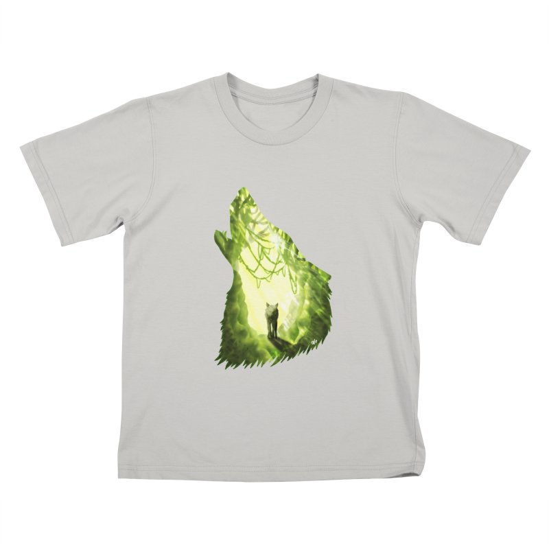 Wolf's Forest Kids T-Shirt by DVerissimo's