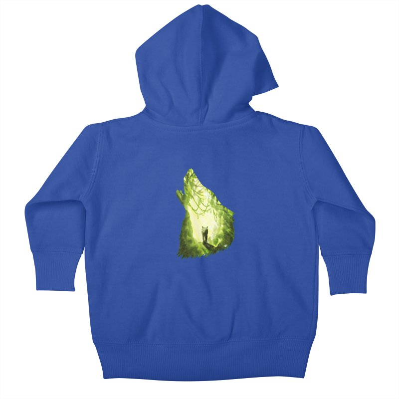 Wolf's Forest Kids Baby Zip-Up Hoody by DVerissimo's